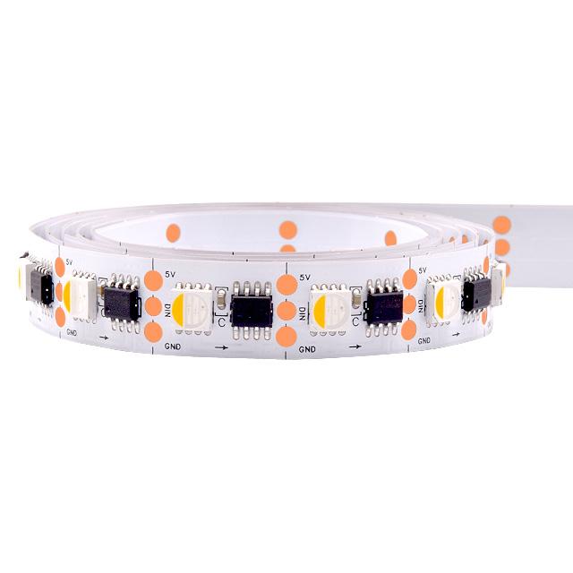 Higher brightness addressable RGBW pixel led tape